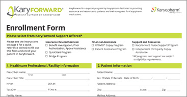 KaryFORWARD™ enrollment form thumbnail